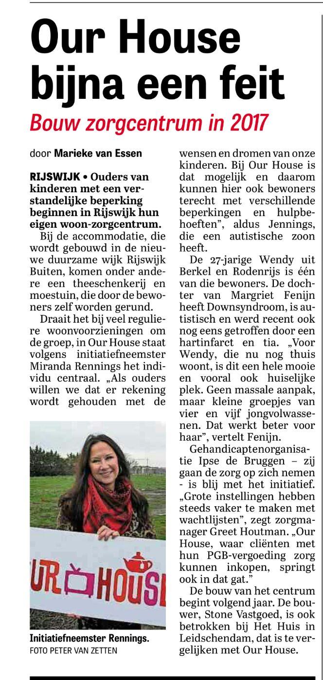In de Telegraaf!